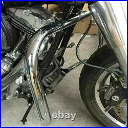 1 1/4 Highway Engine Guard Crash Bar For Harley Touring Road Street Glide 09-20