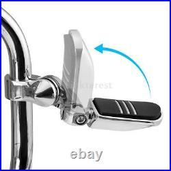 1.25 Highway Crash Bar Engine Guard Foot Pegs For Harley Street Glide Road King