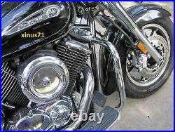 2Pc Engine Guard Highway Crash Bar 4 Yamaha Vstar 1100 Classic Custom Silverado