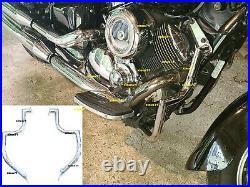 2Pc Engine Guard Highway Crash Bar 4 Yamaha Vstar 1100 XVS1100AW Classic Custom