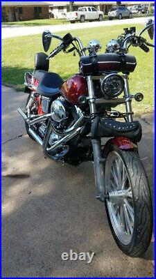 BAGGER Highway Crash Bar Engine Guard 91-17 Harley Dyna Super Glide Street Bob c