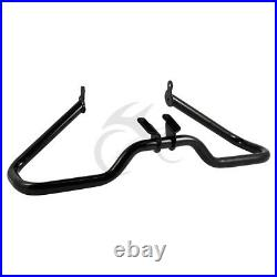 Black Chopped Engine Guard Crash Bar for Harley Touring Street Glide FLHX 14-19