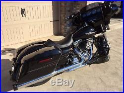 Black Lindby Linbar Highway Bar Crash Engine Guard Pegs 1997-2020 Harley Touring