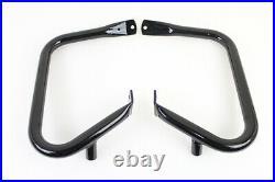 Black Rear 1 1/4 Buffalo Frame Crash Engine Guard Bar 97-13 Harley Touring FLT