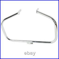 Chrome Engine Guard Highway Crash Bar For Harley Softail Fat Boy Lo FLSTFB 00-17