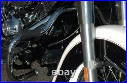 Chrome Front Mustache Engine Guard Crash Bar Harley 84-99 Softail FLST Heritage