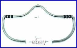Chrome Highway Bar Mustache Bar Crash Engine Guard with Pegs 2006-2017 Harley Dyna