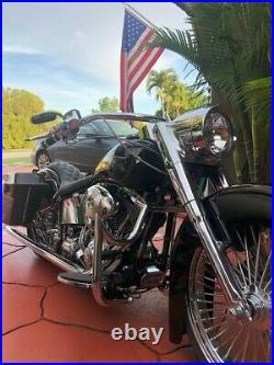 Custom Engine Guard Highway Crash Bar 4 Harley Fatboy Softail 1.25 00-17
