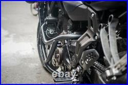 Engine Guard Crash Bar Frame Protector Black For Yamaha Fz07-mt07 2017-18-19