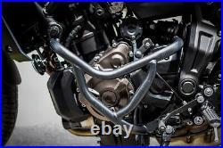 Engine Guard Crash Bar Frame Protector Set Black For Yamaha Fz07-mt07 2017-2020