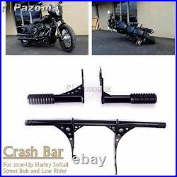 Engine Guard Highway Passenger Foot Peg Crash Bar For Harley FXLR FXBB Slim FLSL