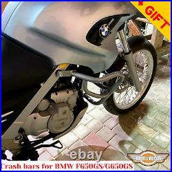 For BMW F650GS Engine guard G650GS Sertao Crash bars F650 GS Dakar Silver, Bonus