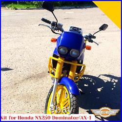 For Honda NX250 Kit crash bars Side carrier AX-1 Pannier rack engine guard