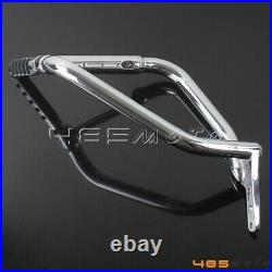 For Honda VTX1800 C N 02-08 Engine Guard With Folded Foot Peg Highway Crash Bar