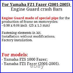 For Yamaha FZ1 Fazer Crash bars FZ1 Engine guard FZS 1000 Fazer (2001-2005)