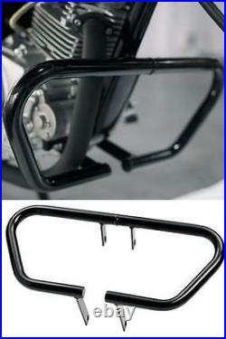 Genuine Yamaha Ybr125 Custom Black Engine Crash Protector Guards Bars