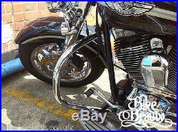 Harley Davidson Softail FLSTF Crash Bar HD Fatboy Highway Engine Guard 2000-2017