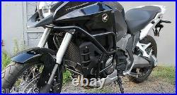 Honda VFR1200X Crosstourer Engine Radiator Guard Crash Bars Black Mmoto HON0110