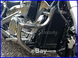 Honda VTX1300 Custom & Retro Crash Bar Engine Guard with BUILT IN PEGS
