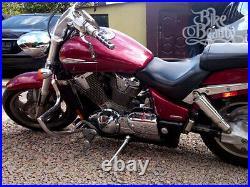 Honda VTX 1800 Custom, C 2001 2008 Highway Crash Bar Engine Guard with PEGS