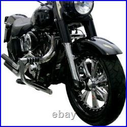 Lindby 1.5 Chrome Magnumbar Engine Guard Highway Crash Bar 97-17 Harley Touring