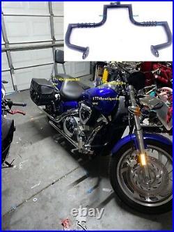MATTE BLACK Highway Engine Guard Crash Bar Honda VTX 1300 R S C Tourer 2004 11