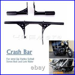 Motorcycle Engine Guard Highway Foot Pegs Crash Bar For Harley FXLR FXBB FLSL