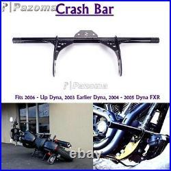 Motorcycle Front Crash Bar Engine Guard Steel For Harley Dyna Fat Bob FXDF FXR