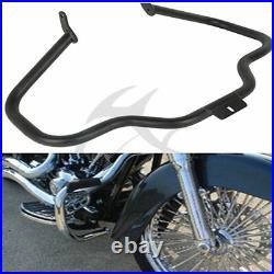 Mustache Engine Guard Crash Bar For Harley Softail Slim FLS Fat Boy FLSTF 00-17