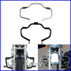 Mustache Highway Engine Guard Crash Bar For Harley Softail Slim Fatboy 2000-2017