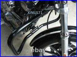 NEW Glossy Black Highway Engine Guard Crash Bar For Harley Sportster XL 883 1200