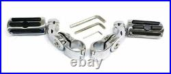 Rivco Chrome 2 ½ Highway Footpeg Pegs Mount 1 ¼ Engine Crash Guard Bar S