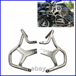 Stainless steel crash bar extension engine bumper for BMW R1200GS Adventure LC