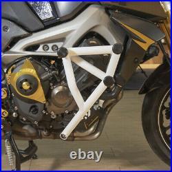 Stunt Cage Engine Guard Crash bar Black for Yamaha MT09 Tracer MT-09 FZ-09 14-16