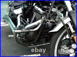 Yamaha Raider XV 1900 Crash Bar Highway Engine Guard, Stainless Steel with Pegs
