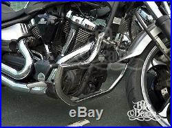 Yamaha Raider xv1900 HIGHWAY CRASH BAR engine guard stainless with Pegs PROTECTOR