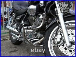 Yamaha Virago XV750 / XV1100 Highway Crash Bar Engine Guard with BUILT IN PEGS