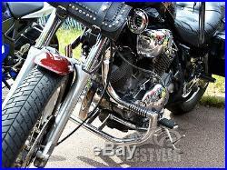 Yamaha Virago XV 750 / XV 1100 Crash Bars Engine Guard with Pegs, Protector