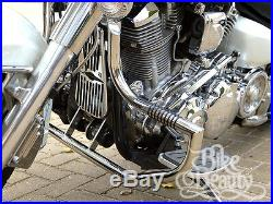 Yamaha XV1600 Road Star Wildstar highway crash bar engine guard Stainless w Pegs