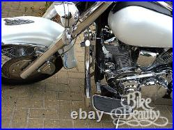Yamaha XV1600 Road Star highway crash bar engine guard Stainless w Pegs