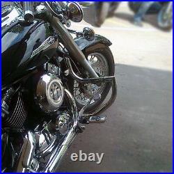 Yamaha XVS650 DragStar V Star Stainless steel crash bar engine guard with pegs